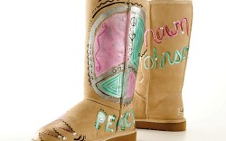 Kelly Ripas Uggs for the sixth annual Art  Sole charity online auction