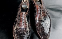 A pair of bespoke crocodile laceups