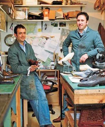 Tony Gaziano left and Dean Girling are reshaping the look of English dress shoes