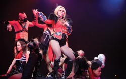 Britney Spears is sporting DSquareds handiwork for her current &#8220Circus&#8221 tour