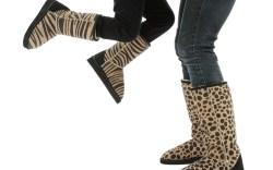 Animal print sheepskin boots by AUSSIE BOOTS AUSTRALIA