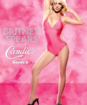 Britney Spears in the Candies spring 2009 ad campaign