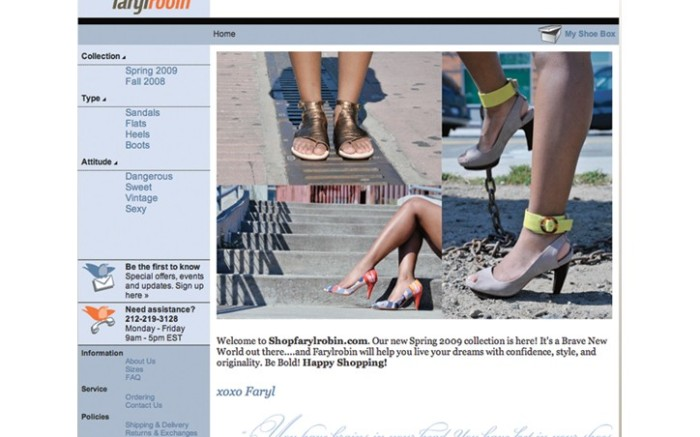 Omelles recently debuted e-commerce boutique