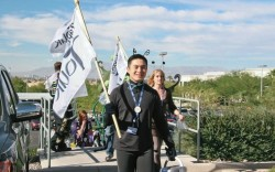 Alfred Lin COO and CFO leads one of the impromptu Zappos parades