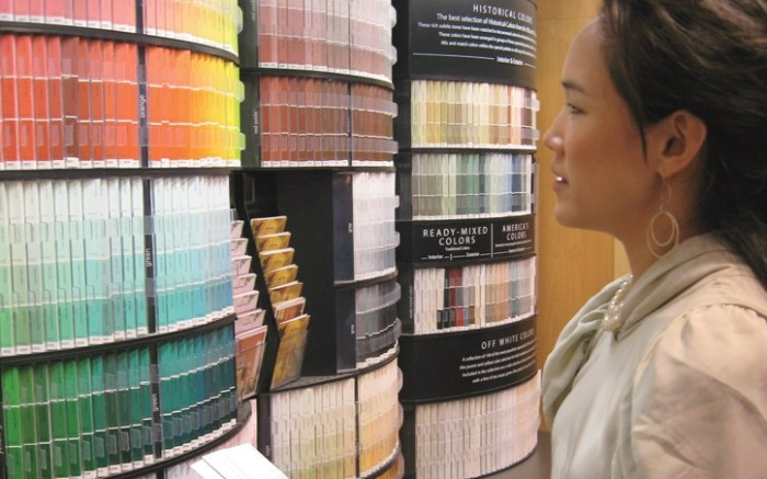 Cece Chin at a Benjamin Moore paint store