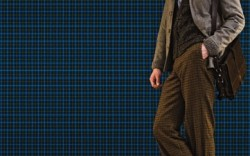 Lug-sole boots by BOSS HUGO BOSS Shirt by Giorgio Armani sweater by Boss Hugo Boss jacket by Coventry pants by Billy Reid