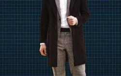 Studded oxford laceups by PRADA Shirt by Giorgio Armani blazer by Rag & Bone overcoat by Prada pants by Dolce & Gabbana