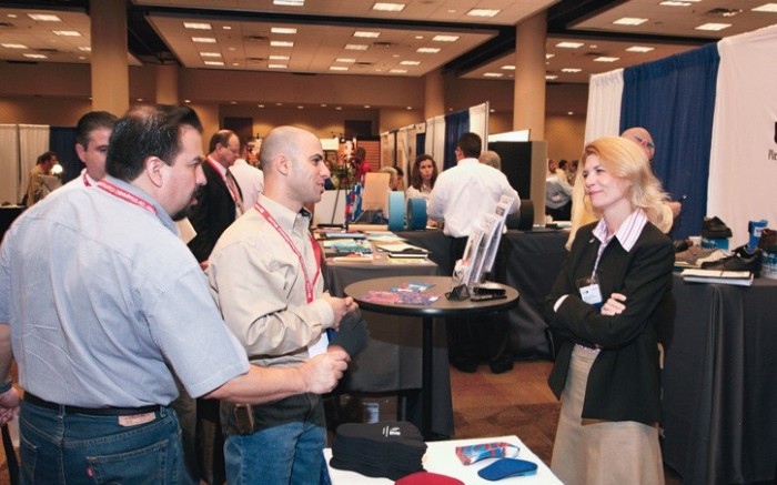 Vendors showcase new products