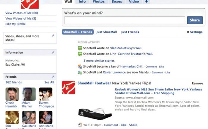 Shoemallcom&#8217s Facebook profile