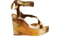 Brian Atwood tie-dyed suede platform wedge