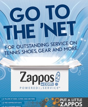 Zappos ads for the WCC championships and Sony Ericsson Open