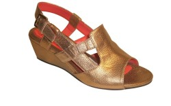 A metallic look from Pas de Rouge&#8217s new sandal offering
