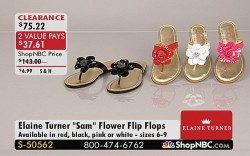 Elaine Turners sandals which are sold on ShopNBC