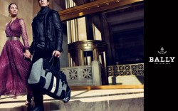 Christy Turlington and Oriol Elcacho in the new Bally Ad Campagin