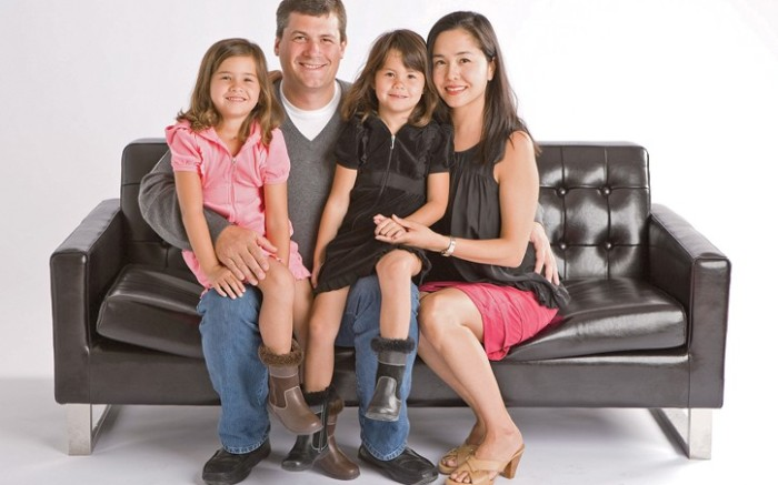 Angela and Brian Edgeworth with daughters