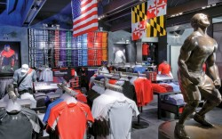 Under Armour&#8217s stores are designed to look like the inside of a sports stadium