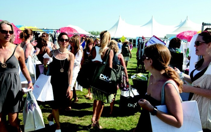 Hamptons retailers are reaching out to customers at area events such as the Super Saturday sale a designer shopping extravaganza held Aug 1 to raise money for the Ovarian Cancer Research Fund