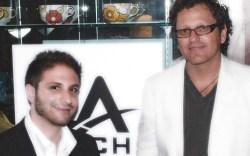 Sportie LA co-owner and brand partner Isack Fadlon with LA Gear&#8217s Lance Jackson
