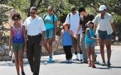 The first family&#8217s recent vacation to Yellowstone National Park and the Grand Canyon