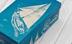 Anniversary-themed packaging from Sperry Top-Sider