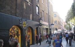 Outside the Dr Martens store on Neal Street in London
