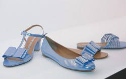 FRATELLI ROSSETTI&#8217s  iridescent bow-tie shoes