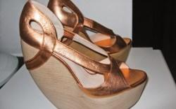 HEATHER BLAKE&#8217s metallic platform sandals