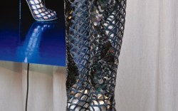 SERGIO ROSSI&#8217s caged knee-high boots