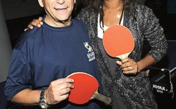 Joy Bryant with Stuart Weitzman