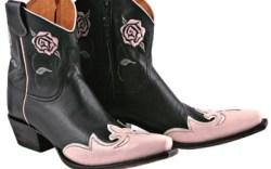 Susan G Komen cowboy ankleboot