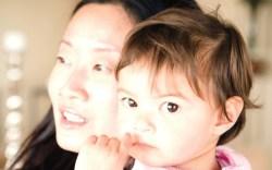 Anyi Lu and her daughter Yen-Yen