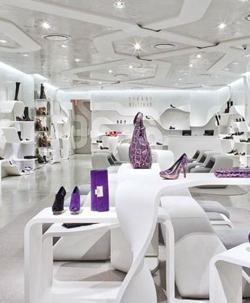 Inside a Stuart Weitzman boutique