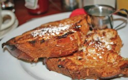 French toast with coconut syrup in Maui