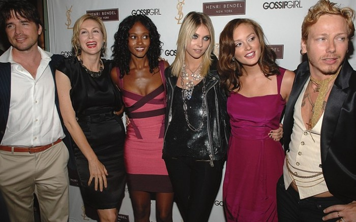 The &#8220Gossip Girl&#8221 stylist at far right with cast members made an appearance at NY&#8217s Cooper Hotel last week