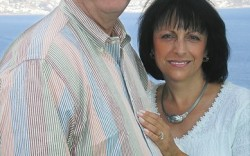 The analyst with his wife Pat on a Mediterranean cruise
