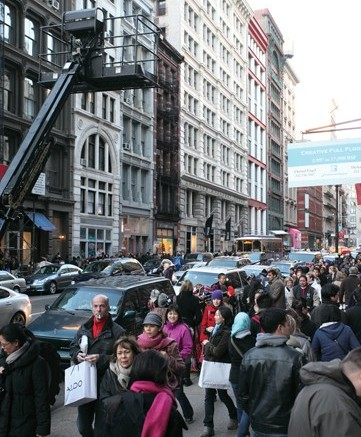 Shoppers packed Soho in New York on Black Friday giving retailers hope for the rest of the season
