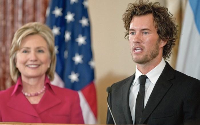 Secretary of State Hillary Clinton and Blake Mycoskie