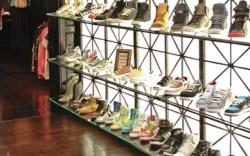 The shoe assortment at Karmaloop
