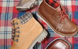 Clockwise from top CARTER&#8217S plaid-lined boot KENNETH COLE REACTION&#8217s square-toe laceup worki nspired boot by OSHKOSH