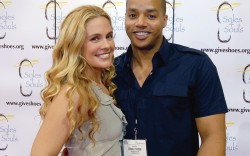 Donald Faison at the WSA Show with girlfriend CaCee Cobb
