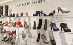 Styles from the fall 2010 Marc Fisher line displayed in the company&#8217s New York showroom