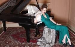 ALBERTA FERRETTI&#8217s silk slingbacks with oversized bows Dress by Malandrino furs by Helen Yarmak necklace by Lee Angel cuff by Miriam Haskell