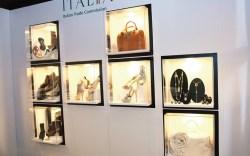 Italian designer accessories at Bryant Park