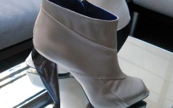 Raphael Young&#8217s booties with water-filled cone heel at Frank Tell