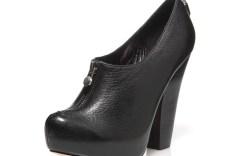 Velvet Angels&#8217 zip-up shootie on stacked heel