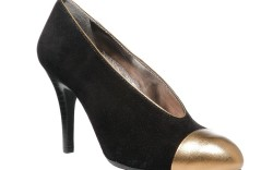 Low-cut pump with toecap by DKNYC