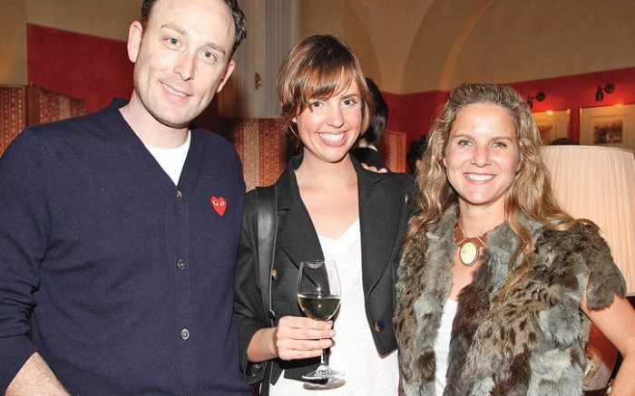 Rick Cytrynbaum with Calleen Cordero far right and her sales director Katy Howard at the Footwear News cocktail party