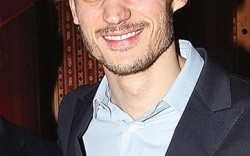 Max Kibardin at the Footwear News cocktail party