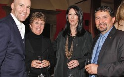 Marc Berger Debbie King Leslie Gallin and Fabio Aromatici at the Footwear News cocktail party