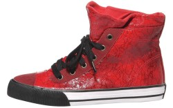 Lacquered lace-print high-top by Girly Girl
